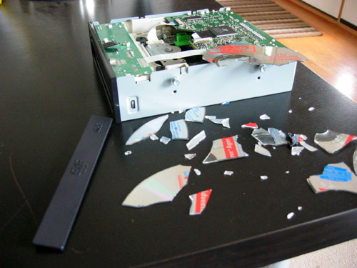 CD Explodes in DVD Drive