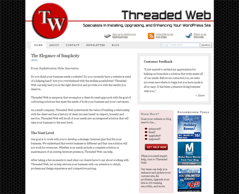 Threaded Web After Thesis Theme